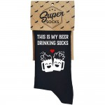 "Kojinės ""This is my beer drinking socks"""
